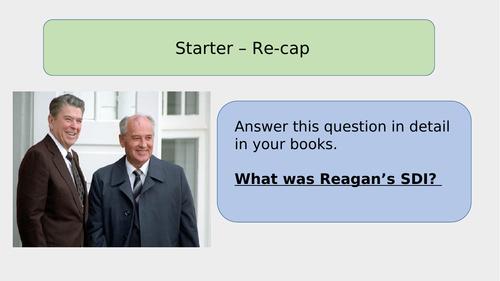 Reagan and Gorbachev's relationship GCSE