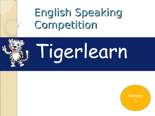English speaking/Public speaking competition describe pictures, role play, answer question. No. 3