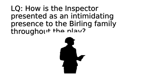 An Inspector Calls: Inspector Goole revision task