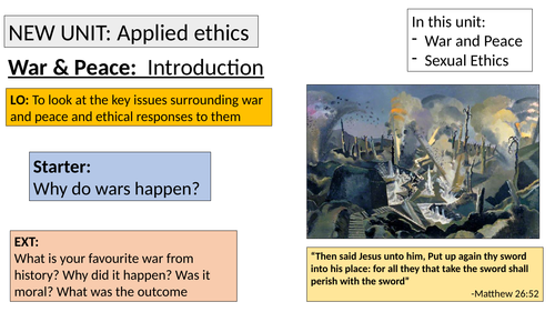 A-level Religious Studies (Edexcel) - Ethics topic 3 resources: Applied Ethics