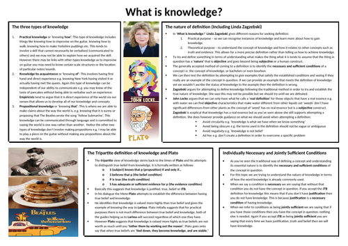 AQA AS what is knowledge REVISION POSTER