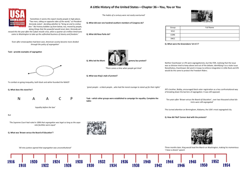 Boom & Bust- Worksheet to support J.W. Davidson's 'A Little History of the United States' Chp 36