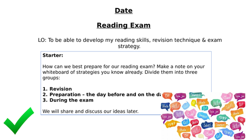 GCSE Reading Exam - Revision, Information and Strategies - AQA and Edexcel - All Languages