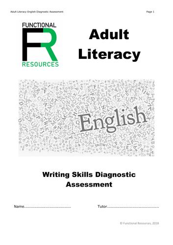 Adult Literacy / Functional Skills Diagnostic Assessment Level 1  - Level 2