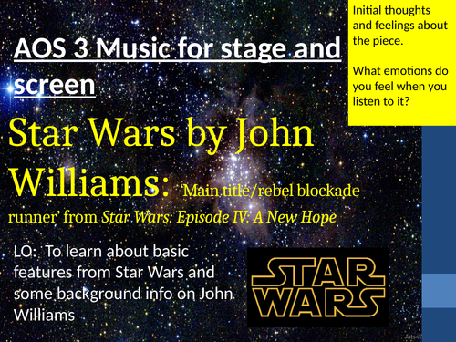 Star Wars GCSE Set work