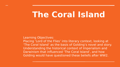 Lord of the Flies literary context - The Coral Island