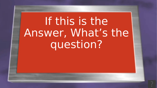 BTEC - Sport and Exercise Science - Unit 2 - If this is the Answer, What is the Question?
