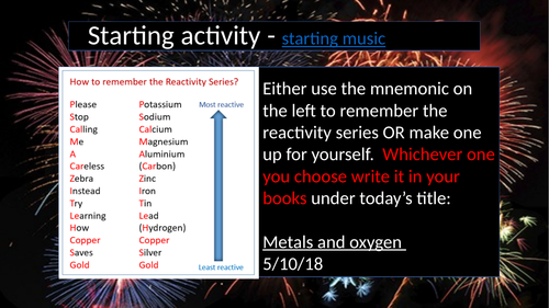 Metals and oxygen AQA activate KS3 chemistry 6.2.4 suitable for non specialists
