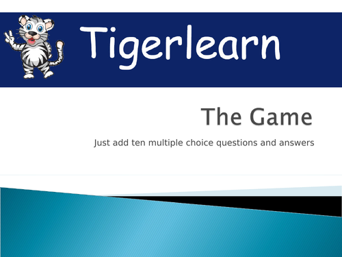 The Game - generic multiple choice ten-question PPT for any game just add questions