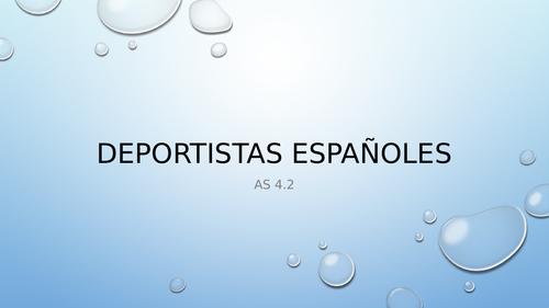 Deportistas españoles