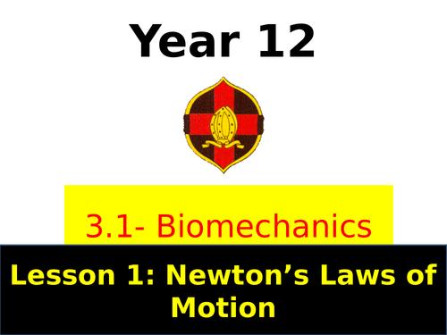 OCR A LEVEL PE - year 1 Biomechanics