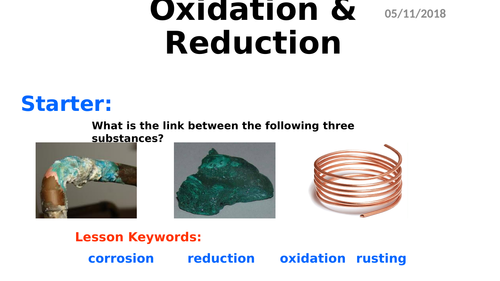 KS4 Chemistry - Oxidation and Reduction