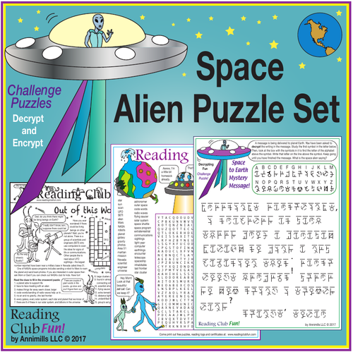 Space Alien Puzzle Set