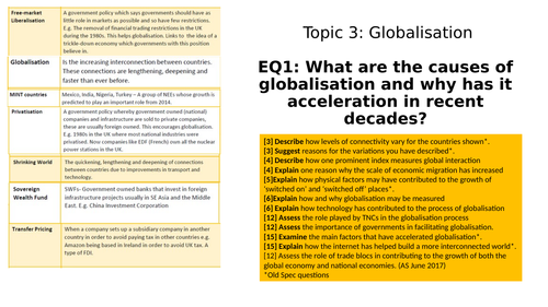 Edexcel A-Level Topic 3 - Globalisation full revision notes