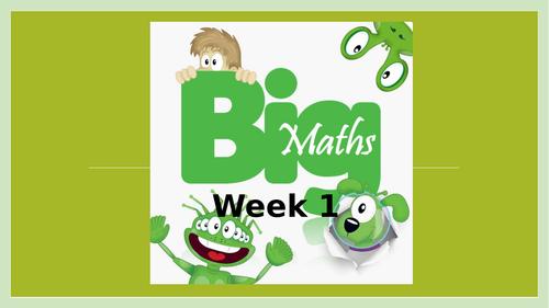 Big Maths CLIC Powerpoint - Year 4 Summer 1