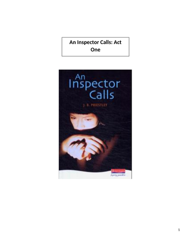 An Inspector Calls Act One revision