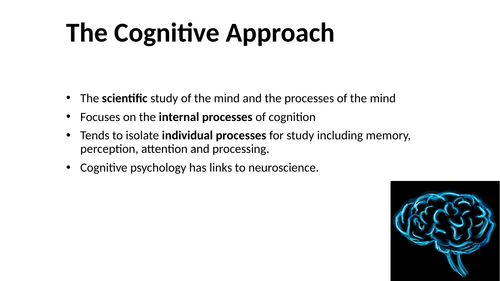 Overview of the Cognitive Approach to Psychology