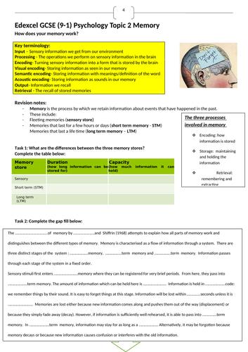 Edexcel 9-1 GCSE Psychology Topic 2 revision guide