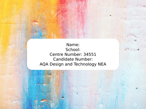 Cover photos for NEA Design and Technology