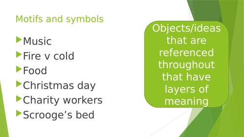 Motifs and Symbols in A Christmas Carol