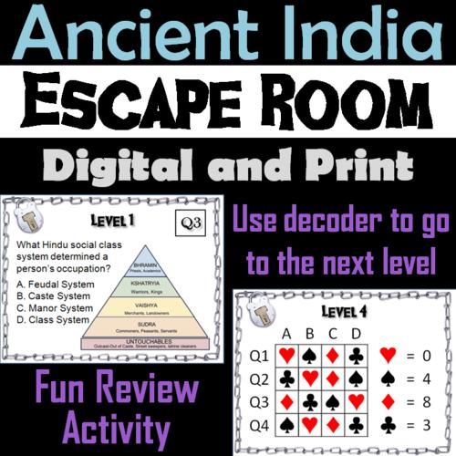 Ancient India Escape Room Social Studies Teaching Resources