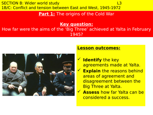 The Yalta Conference By Nichollsn Teaching Resources Tes