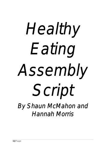 Healthy Foods Assembly Script