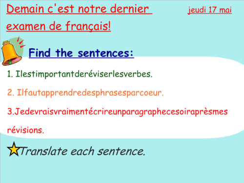 FRENCH WRITING REVISION LESSON FOR AQA EXAM SUCCESS