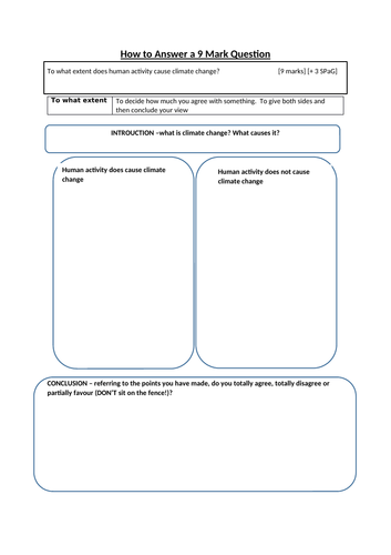 AQA GCSE Geography lessons - energy and climate change
