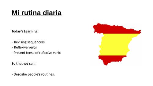 Mi rutina diaria / My daily routine / Reflexive verbs