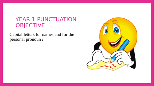 Year 1 SPAG PPT lesson: Capital Letters for Names and I