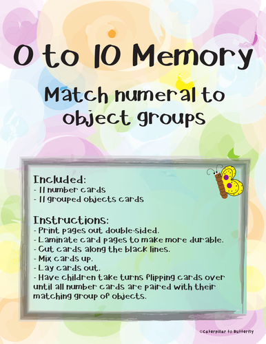 0 to 10 Number to Object Group Memory