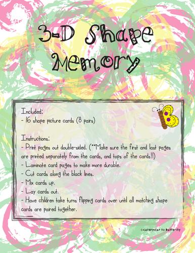 3D Shape Memory