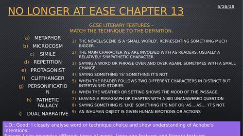 No Longer at Ease chapter 13