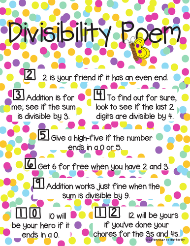 Divisibility Rhymes