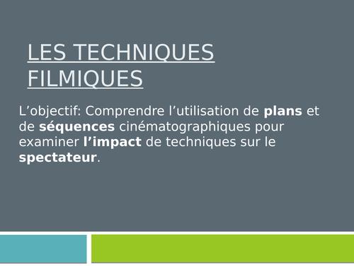 A Level French -  Les techniques cinématographiques - Filming Techniques - Essay
