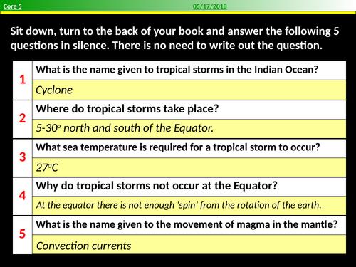 How do tropical storms form?