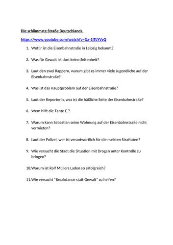 Meine Stadt / Kriminalitaet / Recht und Ordnung / Crime / Anti-social behaviour
