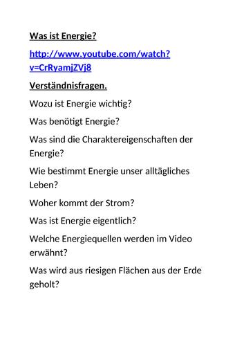 Umwelt / Energie / Environment / Energy
