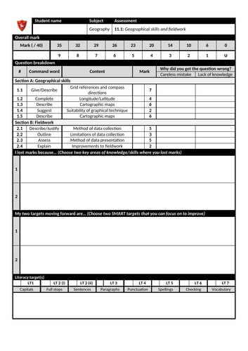 GCSE Unit 3 interim assessment AQA 9-1