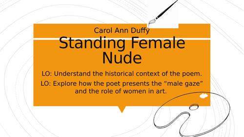 Standing Female Nude by Carol Ann Duffy