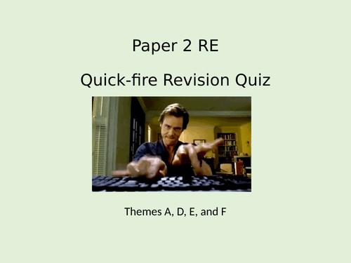 AQA Spec A Religious Studies - GCSE - Emergency Revision Lesson - Paper 2
