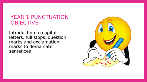 Year 1 PPT Lesson: Demarcating sentences