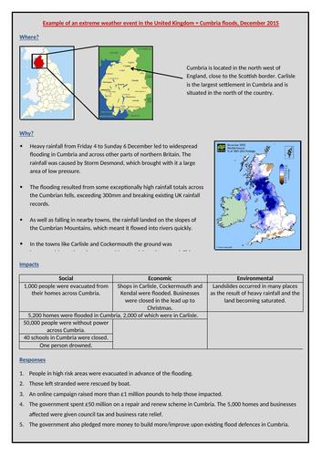 Cumbria floods case study