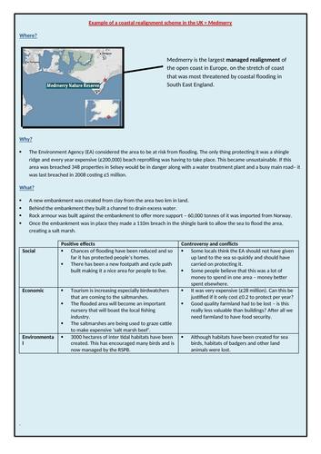 Medmerry coastal realignment case study