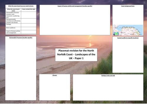 OCR A GCSE Geography North Norfolk Coast Revision