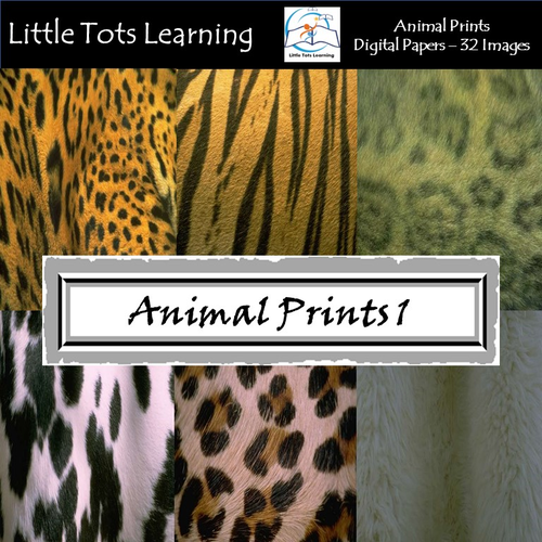 Animal Print Digital Papers - Natural Animal Wool and Skin