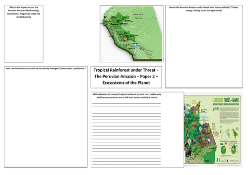 OCR A GCSE Geography Peruvian Amazon Revision