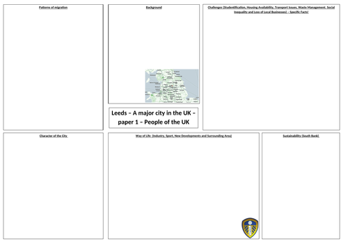 OCR A GCSE Geography Leeds Case Study Revision