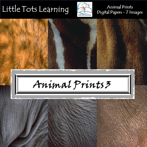 Animal Prints Digital Papers - Natural Animal Wool and Skin